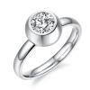 Yoursfs @ Хорошее Quanity Titanium Steel CZ Кольцо Свадебные ленты Розовое золото Кристалл Женское кольцо простое кольцо перста