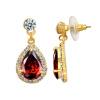 Yoursfs @ Модные серьги с капюшоном с капюшоном Ruby Gem Jewelry 18K Gold Plated CZ Earring Brincos Интернет-магазин Африка оптом