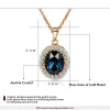 Yoursfs® 18K Rose Gold Plated Simulated Ruby Angel Eye Necklace Использование австрийских ювелирных украшений из хрусталя yoursfs 18k rose white gold plated letter best mum heart necklace chain best mother s day gift