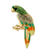 Yoursfs@ Free Shipping Women Enamel Parrot Brooches Hat Accessories Scarf Clips Animal Bird Bouquet Pins Hijab Pins Broches enamel sector pattern brooches with red tassel