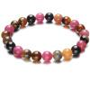 Ши Юэ турмалин браслет женских моделей ювелирных 7-8мм круг турмалин браслеты женских синглы с сертификатом подлинности разноцветного дара ювелирного кабошон турмалин 7 9 мм