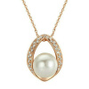 Yoursfs@  18K Rose Gold Plated With Austrian Crystal Charms Pearl Necklace yoursfs heart necklace for mother s day with round austria crystal gift 18k white gold plated