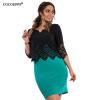 Новинка 2017 года большой Размеры Bodycon Офис женское платье плюс Размеры женская обувь с полым каблуком Топы and платье О-образн новинка