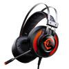 Звукорежиссер (ЛУЙС) 7.1-канальная головка, установленные игровая гарнитура USB7.1 игра звук излучение LED излучающего оранжево-черный наушник микрофона 927