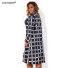 COCOEPPS L-6XL женщин Плед пальто большой размер NEW Осень зима плюс размер женщин пальто большой пальто Длинные рукава Одежда пальто