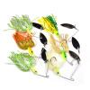 1sets Spinner Fishing Lures 20 цветов Ложка приманки 20 моделей Смешанная масса Металлические басовые приманки для рыболовных снастей