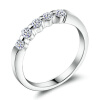Yoursfs @ Sparkly 5 кубических циркониевых колец 18k White Gold Plated Fashion Rings Band