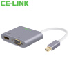 CE-LINK Mini DP очередь VGA / HDMI / DVI конвертер 4K Mini тройной адаптер Mini DisplayPort интерфейсы молнии черный A1513 Macbook biaze mini displayport включить vga hdmi dvi тройной конвертер адаптер apple mini dp молнии поворота интерфейсы hd проектор zh8 2k