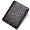Aokang мужской кошелек голова коровьей кошелек мужской мужской карточки короткая часть вертикальной секции кошелек 8731705032 коричневый