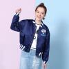 Fairwhale 2017 осенью новый женская мода молодежная бейсбольная куртка воротник куртки женский Navy S 426 312 021 015