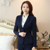 Women's Two-Button Career Blazer Mujer 2017 Spring Autumn Long Sleeve Notch Suit Jacket Plus Size S To 5XL Blazers Femme children s garment new pattern catamite pleuche sweater suit children motion boy spring and autumn season two pieces kids