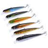 1PC Fishing Lure Minnow 4.42 -11cm Рыбалка Приманка 11.22g Рыболовная снасть Crankbait 6 Цвет Minnow Приманки Set 4 # Hook