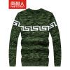 мужской мода Антарктической шеи свитера шить жаккардовый пуловер свитер мужчин культивирование NFF173B802 красного M