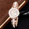 Роуз Золотые часы Женские часы Лучшие знаменитые брендовые роскошные наручные часы Rhinestone женские кварцевые наручные часы  все цены