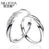 Ni Luoya женщина S925 серебряные ювелирные изделия кольца пара на открытие корейских мужчин и одна пара, чтобы жить на подарок на день рождения одна пара цена кольцо бао края s925 соглашение женские модели кольца пара пара кольца серебряные кольца одиночные женские модели