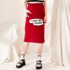MarkFairwhale осень 2017 года женщина юбку нового вязание юбка милые юбки 426 386 121 002 Red S женские юбки в розницу