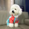Teddy Bear домашнее животное домашнее животное собака плащ собака одежда Тедди Бишон одежды собаки одежды любимчика светло-голубой № 4 тедди vip по электронной почте четыре ноги собака плащи пончо водонепроницаемая одежда осень зима средние и большие собаки одежды
