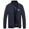 Battlefield Jeep мужские случайные короткие рубашки куртки бейсбола куртки воротник мужской моды Тонкий Мужчины куртка 17121Z7004 синий M куртки