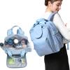Джингдонг Уинфри flavorgirl случайные моды Мумия Мумия сумка большой емкости многофункциональный рюкзак плечи пакет F5004 небо синий мать