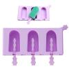 Jie Kainuo мороженого эскимо форма Jekero литье силикона три маленьких дети крема палочка плесень фиолетовые дуги jie kainuo jekero антипригарного выпекания золотой форма торта в форме сердце шаблона шесть кругового пончик выпечки пуансон