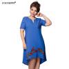 COCOEPPS вышивка платье 2017 летних больших размеров V-образным вырезом платья для женщин плюс большой размер свободной одежды пазлы больших размеров для взрослых