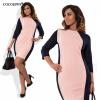 COCOEPPS Лоскутные платья 2017 Летняя осень Элегантная женская одежда
