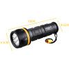 Супер яркий светодиодный аварийный свет, Длинный диапазон D сухой батареи 7 светодиодный фонарик факела, Водонепроницаемый светоди