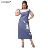 где купить Cocoepps женщин лоскутное плюс Размеры платье 2017 элегантные женские офисные платья по лучшей цене
