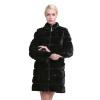Sarsallya реального норки пальто для женщин натурального меха пальто роскошный черный цвет настроенный размер пуховая часть отстёг пальто katerina bleska