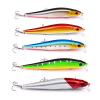 1PC Minnow Fishing Lure Пластиковые жесткие басовые приманки 14cm-5.51 /23g-0.81oz с # 4 Крючками Рыбалка Воблеры