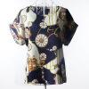 Летняя цветочная блузка Футболка с короткими рукавами Футболки с короткими рукавами Шифоновые рубашки Блузки Маленькие цветы Blusas Femininas блузки linse блузка