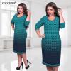 COCOEPPS Осенние зимние женщины освобождают длинные платья плюс размер платья Три четверти повседневного платья L-6XL vestidos платья l