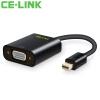 CE-LINK Mini DP to VGA-адаптер Mini Displayport Конверсионный кабель Apple MacBook / Air Pro Lightning Интерфейсный проектор Black A1640
