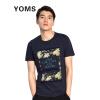 YOMS мужская футболка повседневная хлопковая одежда круглый воротник