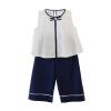 Fuluo чо Flordeer французского детской одежды костюмы девочек Вав Шаня рукава ширина брюки ноги кусок оснащен F72017 белых 110 ai fuluo iflow