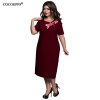 COCOEPPS Vintage Summer 6XL Plus размер Женщины вышивка платья платье 2017 Элегантный вечер вечернее платье большой размер платья gemko plus size платье