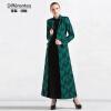 DF · RS 2017Осень и зима новое длинное пальто пальто женское зеленое Тонкий длинный рукав воротник жаккарда пальто katerina bleska