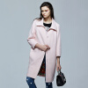 Fairwhale новая осень 2017 женщин шерсти пальто Тонкий длинное пальто женский розовый S пальто katerina bleska