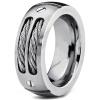 hpolw 8мм мужчин из нержавеющей стали, кольцо обручальное кольцо с нержавеющей стали, кабели и пошел конструкции, размеров, 6 - 13