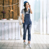 Инь Человек (ИНМАН) 2017 Hitz джинсы женские прямые джинсы джинсовые длинные брюки, джинсовые синие комбинезоны 1861336467 M