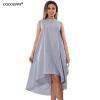 Cocoepps новые летние Straped женское платье Мода г. плюс Размеры женский Длинные Платья повседневные свободные синий повседневные платья