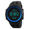 Время в США мужские спортивные часы многофункциональные часы SKMEI студент светящихся электронные часы 1251 черный синий