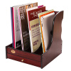 Письмо (TRNFA) TN-8104 высокий класс деревянных офисная настольная картотека с ящиками из дерева четыре каркасных полки файла журнал кадра данных стоечных книги