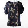 Летняя цветочная блузка Футболка с короткими рукавами Футболки с короткими рукавами Шифоновые рубашки Блузки Маленькие цветы Blusas Femininas