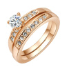 Yoursfs® 18K Rose Gold Plated Double Rounds Simulated Diamond Rings Используйте австрийские ювелирные изделия из кристалла yoursfs® round loop rose gold plated zircon pendant necklace