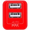 Mo Миши (MOMAX) двухпортовый USB зарядное устройство Apple Apple Эндрюс мобильный телефон зарядки головка телефон штекер зарядного устройства 2.4A быстрая зарядка IPAD таблетка общий красный momax зарядное устройство сетевое momax u bull 4 usb 5а желтый