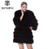 SARSALLYA Шубы из натурального песец шуба натуральная лисицы одежда шуба норковая песец жилетка цельная натуральная шуба с длинным