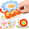 Hibiscus angel TS8099 плюшевый шар художественная картина костюм ручной работы детский сад творческий DIY паста материал живопись родитель-ребенок рука трения бумага трение бумага наклейка художественная роспись