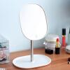 Зеркало Ou Runzhe на 360 ° вращающееся настольное зеркало заднего вида удобное косметическое зеркало белого цвета