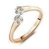 Yoursfs @ Luxury Double AAA CZ 18K позолоченные имитированные бриллиантовые обручальные кольца для женщин Обручальные кольца для женщин Fashion Jewelr yoursfs sparkle zircon rings for women 18k rose gold plated jewellery кольца свадебные кольца cz для новобрачных